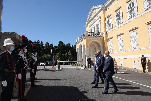 L'assessore Callari con il prefetto di Trieste Valerio Valenti e il presidente del Consiglio comunale di Trieste Francesco Di Paola Panteca