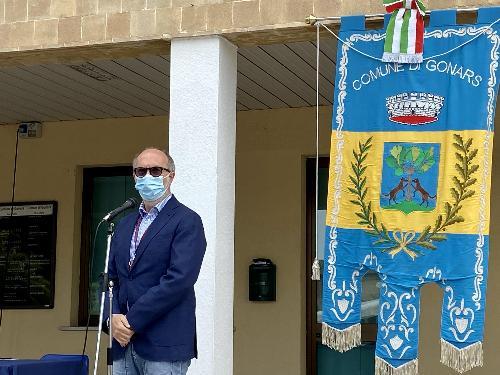 L'intervento del vicegovernatore della Regione Riccardo Riccardi durante la cerimonia svoltasi a Gonars