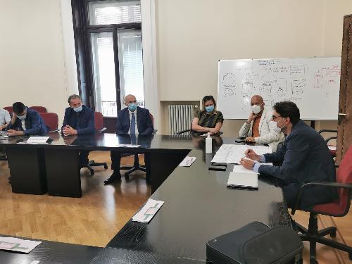 L'incontro tra l'assessore regionale Fabio Scoccimarro e il sindaco di Trieste Roberto Dipiazza.