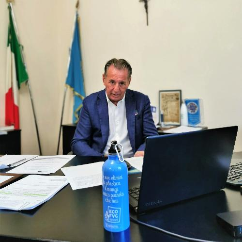 """L'assessore regionale alla Difesa dell'ambiente Fabio Scoccimarro interviene all'evento on line """"A clean Adriatic sea for future generations"""" nel quadro del progetto Marless."""