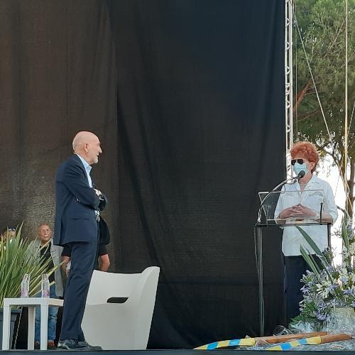 L'assessore regionale alla Cultura Tiziana Gibelli interviene al Premio Hemingway intervistata da Marino Sinibaldi