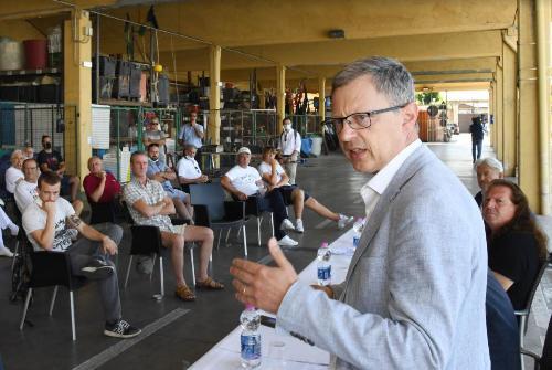 L'intervento dell'assessore alle Risorse agroalimentari, forestali e ittiche Stefano Zannier.