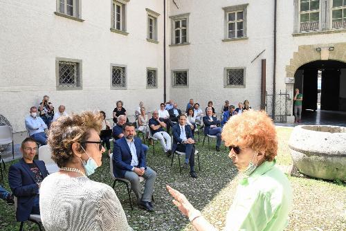 L'assessore regionale alla Cultura Tiziana Gibelli e la presidente del museo Aurelia Bubisutti.