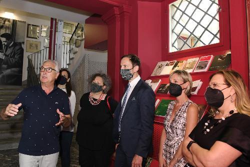 Il governatore del Friuli Venezia Giulia Massimiliano Fedriga al Museo Carnico delle Arti popolari 'Michele Gortani'.